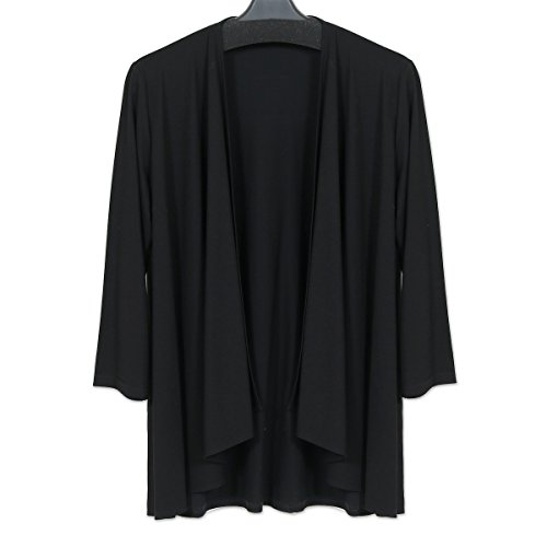 (京都スタイル) kyoto style トッパーカーディガン レディース 黒 M~L