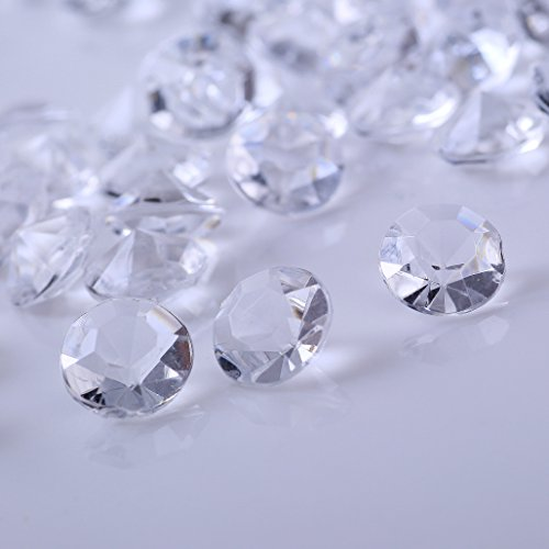 AiFanS 500Pcs 12mm CLEAR Acrylic Diamond Gems Crystal Rocks For Table Scatter Or Table (Crystal Table Decoration)