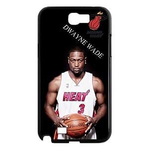 ebaykey Custombox NBA Superstar Miami Heat Dwyane Wade SAMSUNG GALAXY NOTE 2 N7100 Best Plastic Case for Fans