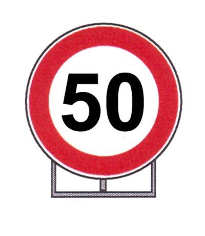 Segnale Stradale Cartello Cantiere Velocità 50 Km D 60 Amazonit