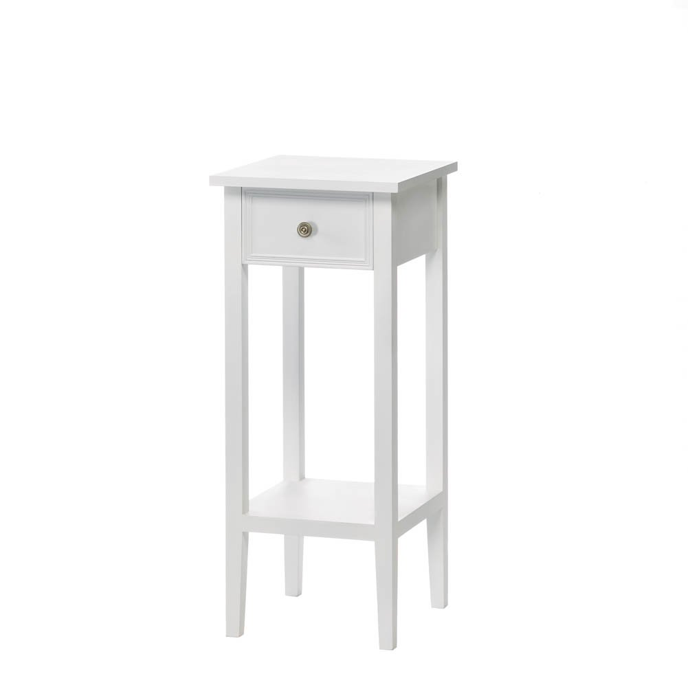F.A. Decors Classic White Accent Table, Side Table or Plant Stand by Unknown