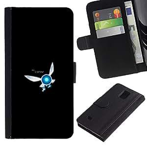 JackGot ( Ehi ascolta ) Samsung Galaxy Note 4 IV la tarjeta de Crédito Slots PU Funda de cuero Monedero caso cubierta de piel