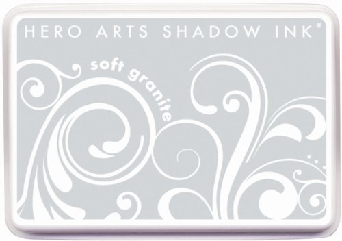 Stazon Gray Ink - Hero Arts Rubber Stamps AF226 Soft Granite Shadow Ink Stamp Pad