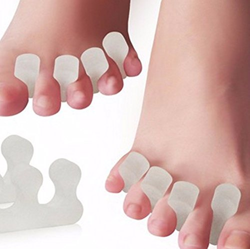 Silicone Toe Separators Gel Stretchers Best to Fight Fatigue 3 Hole ( 2 pcs. )