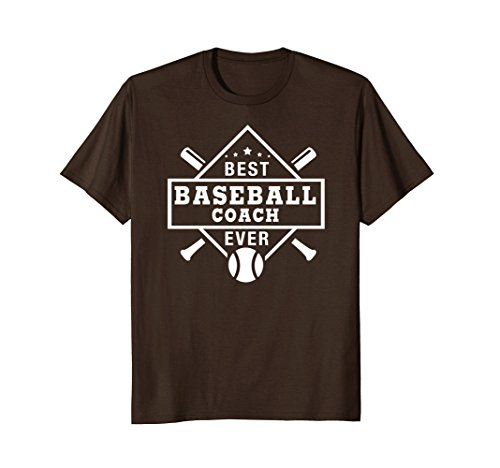 Mens Baseball Coach Thank You Gift T Shirt Best Coach EVER 2XL Brown Thank You Baseball Coach