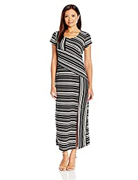 NY Collection womens petite Printed Cap Sleeve Maxi Dress