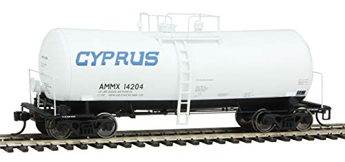 Run 16000 Gallon Funnel - 40' UTLX 16,000-Gallon Funnel-Flow Tank Car - Ready to Run -- Cyprus AMMX #14204 (white, blue)