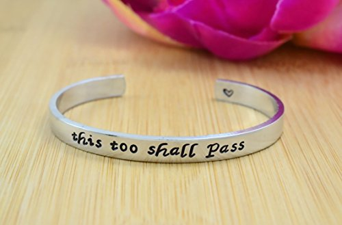 this-too-shall-pass-hand-stamped-aluminum-copper-or-brass-cuff-bracelet-motivational-inspirational-m