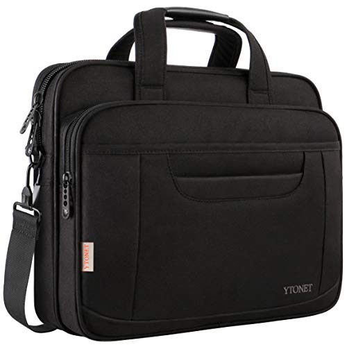 Laptop Briefcase,15.6 Inch Laptop Bag,Business Office Bag for Men Women,Stylish Nylon Multi-Functional Shoulder Messenger Bag for Notebook Computer Tablet MacBook Acer HP Dell Lenovo,Black ()