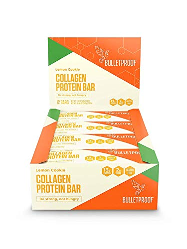 Bulletproof Bars Collagen Protein, Perfect Snack for Keto Diet, Paleo, Gluten-Free, for Men, Women, and Kids (Lemon Cookie) (Lemon Organic Coffee)