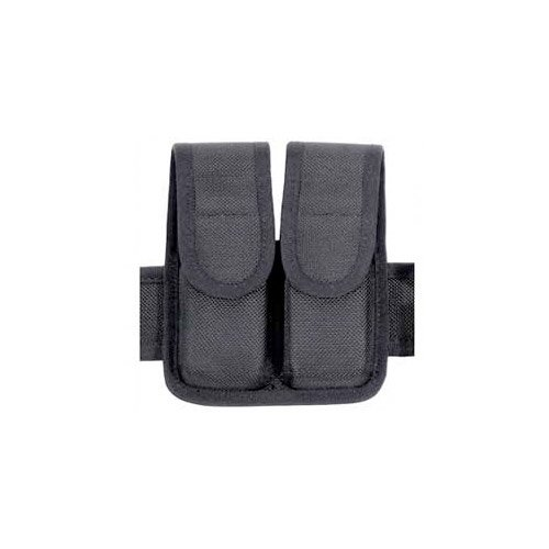BLACKHAWK! Molded Black CORDURA Double Mag Pouch - Double Row by BLACKHAWK!