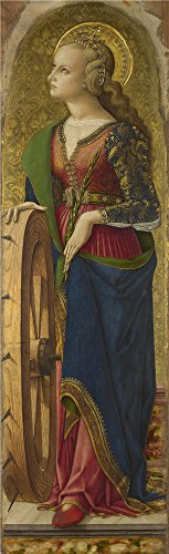 Arctic Shield Overalls - 'Carlo Crivelli Saint Catherine Of Alexandria (1) ' Oil Painting, 10 X 33 Inch / 25 X 83 Cm ,printed On Perfect Effect Canvas ,this Vivid Art Decorative Prints On Canvas Is Perfectly Suitalbe For Gym Decoration And Home Decor And Gifts