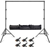 Hemmotop 背景スタンド 大型 グリーンバック 背景布 背景紙に適用 撮影スタンド 耐久性 バックグランドサポート 安定性が良い