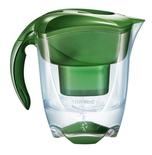 MAVEA 1005770 Elemaris XL 9-Cup Water Filtration Pitcher, Sage Green