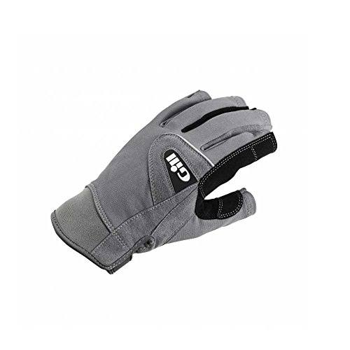 - Gill Short Finger Deckhand Sailing Gloves, Gray, Junior