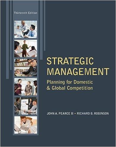 Amazon strategic management 9780078029295 john pearce strategic management 13th edition fandeluxe Choice Image