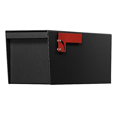 Jayco LLDBLRURAL Residential Non-Locking Front and Rear Access Letter Locker Mailbox Black