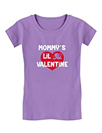 Mommy's Lil Valentine - Cute Valentine's Day Toddler/Kids Girls' Fitted T-Shirt