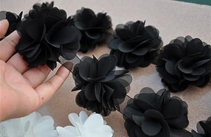 Ghirlanda di fiori con foglie in chiffon per abito da sposa 9ba25118750
