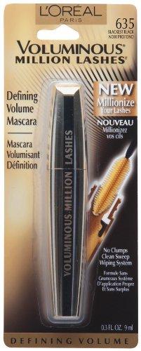 L'Oréal Paris volumineux Million Lashes Mascara, Blackest Black 0,3 once liquide