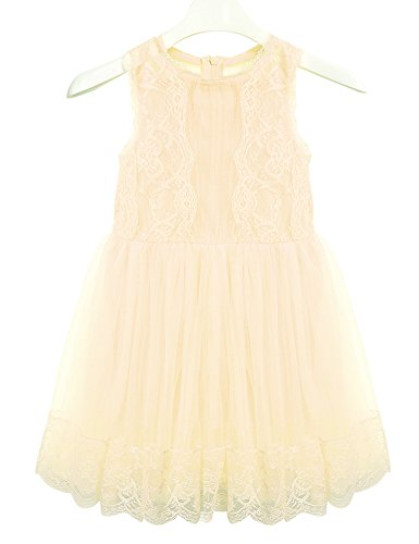 beige lace summer dress - 3