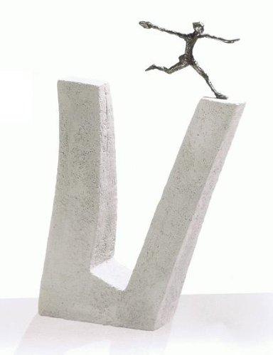 Wer nicht wagt.... - Kött-Gärtner Luise - Bronze Skulptur