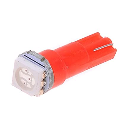 Kmise T5 cuña 5050 Rojo SMD LED bombilla velocímetro cuadro de instrumentos