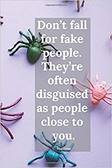 Don't fall for fake people. They're often disguised as people close to you.: Rap notebook, notebook journal, lyrics journal Epub Download
