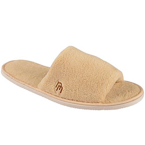 Pantofole In Pile Di Corallo 12pk Con Punta Aperta Per Casa E Boschi Da Viaggio
