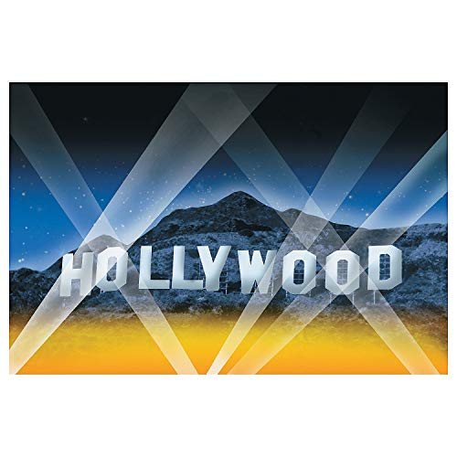 Fun Express - Hollywood Hills Backdrop Banner for Party - Party Decor - Wall Decor - Preprinted Backdrops - Party - 3 Pieces -