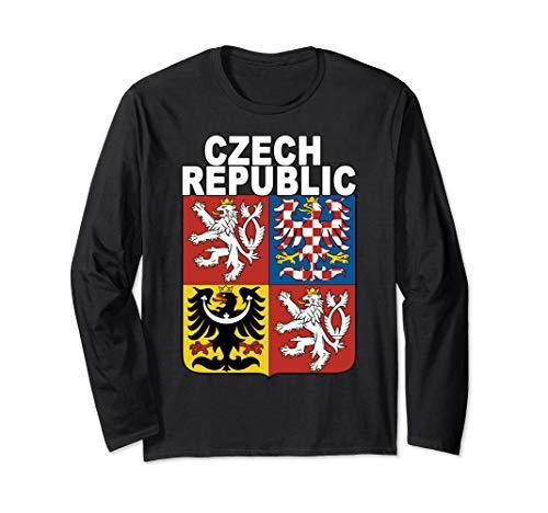 - Czech Republic National Coat of Arms Design Long Sleeve T-Shirt