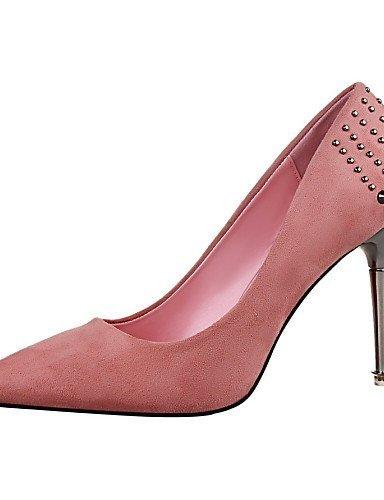 Bureau Bordeaux Décontracté Rouge ShangYi Femme Bout Noir amp; Talons Pointu Bout Gris Travail Rose Aiguille Chaussures Talon fuchsia nFBCBvfwE