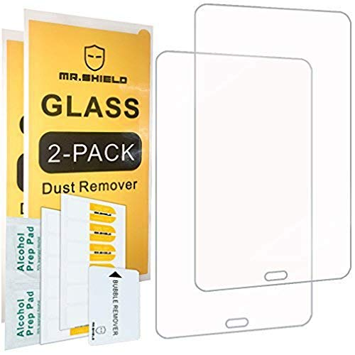 ([2-Pack]-Mr.Shield for Samsung Galaxy Tab A 8.0 (2017) / Galaxy Tab A2S (SM-T380) [Tempered Glass] Screen Protector [0.3mm Ultra Thin 9H Hardness 2.5D Round Edge] with Lifetime Replacement)