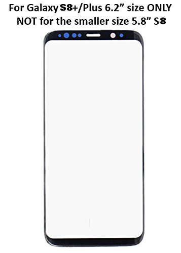 For Samsung Galaxy S8 Plus G955A G955T G955V G955P LCD Touch Screen Lens  Front Glass Outer Lens Cover Black Replacement Repair Part