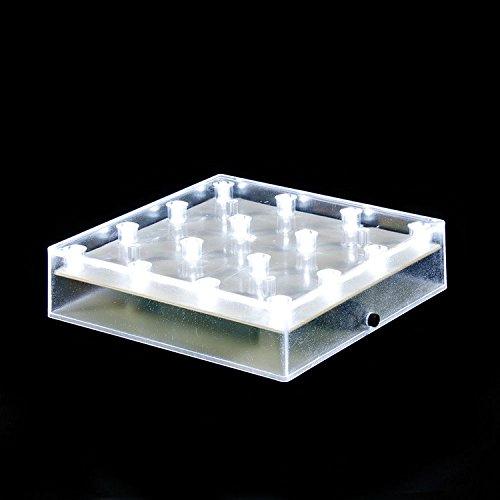 ARDUX 5インチスクエア16 LEDバッテリータイプの台座の花瓶のベースライト、結婚式のテーブルセンターピースの装飾花瓶のイルミネーション(12個入、ホワイト) B075K8G64F 11999 12個入|ホワイト ホワイト 12個入