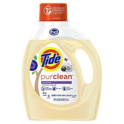 Tide Purclean Liquid Laundry Detergent for Regular and HE Washers, Honey Lavender Scent, 75 Fluid Ounce