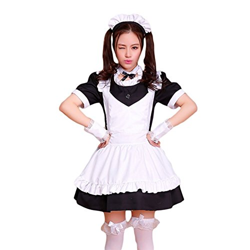 COCONEEN Anime Cosplay Costume French Maid Outfit Halloween