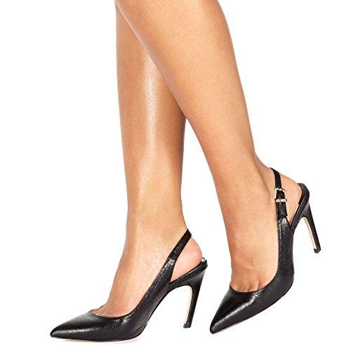 'Colada' Heel High Slingbacks Faith Black Stiletto Womens Debenhams 4wBHqw