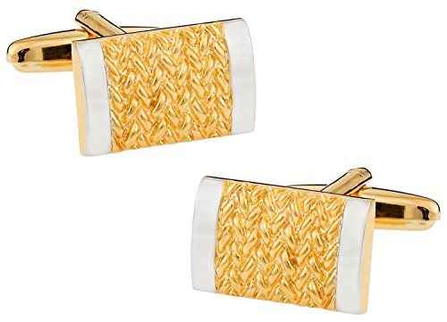 Rich Two-Tone Gold and Silver Cufflinks by (2 Tone Gold Link)