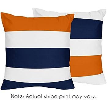 Amazon Com Sweet Jojo Designs 2 Piece Navy Blue Orange