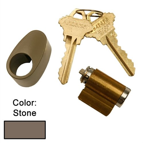 Andersen Hinged Exterior Keyed Lock in Stone Color 1988 to Present (Door Hardware Patio Hinged Andersen)