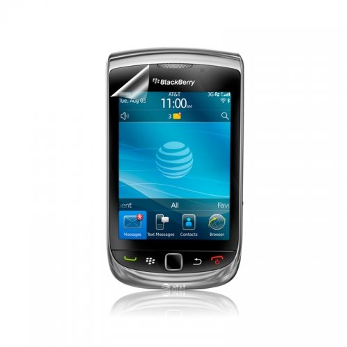 ScreenWhiz HD Anti-Glare Screen Protectors for BlackBerry 9800-3 Pack - Retail Packaging - -