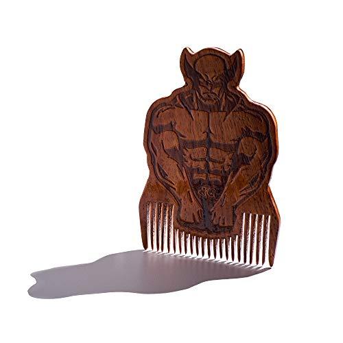 Wolverine Beard Comb, Mens Wooden Facial Hair Brush - Beard -