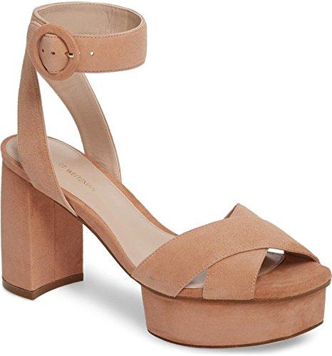 Stuart PE18 Noir Chaussures Heel Weitzman XL15034 MOARE Femmes 10 Poudre 8rP8wq