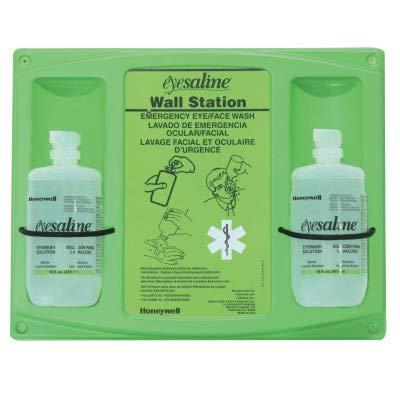 Honeywell 32-000465-0000 Fend-All 16 Ounce Double Bottle Eyesaline Sterile Eye Wash Wall Station, Plastic, 1' x 1' x 1'