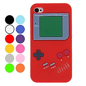 Unique Retro Gamepad Style Silicone Soft Case for iPhone 4/4S (Optional Colors) --- COLOR:Rose