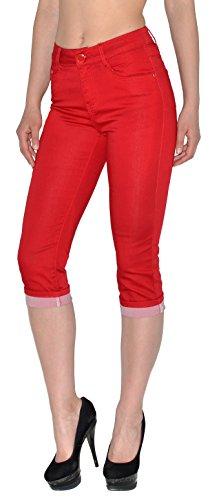 femmes tailles Jean tex femmes rouge by capri capri femme jean pantalon grandes en pour J242 J246 Cand78n