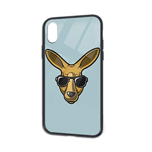 Shock-Absorption Kangaroo Glass Back Phone Case for iPhone