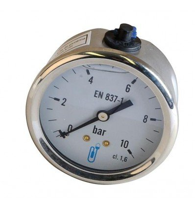 Expert by net - Fuel water and air pressure gauge - Glycerin axial pressure gauge 0-4 bar diameter 63mm
