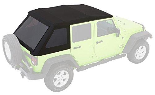 Bestop 54923-17 Black Twill Trektop NX Glide Convertible Soft Top for 2007-2018 Wrangler Unlimited 4-Door